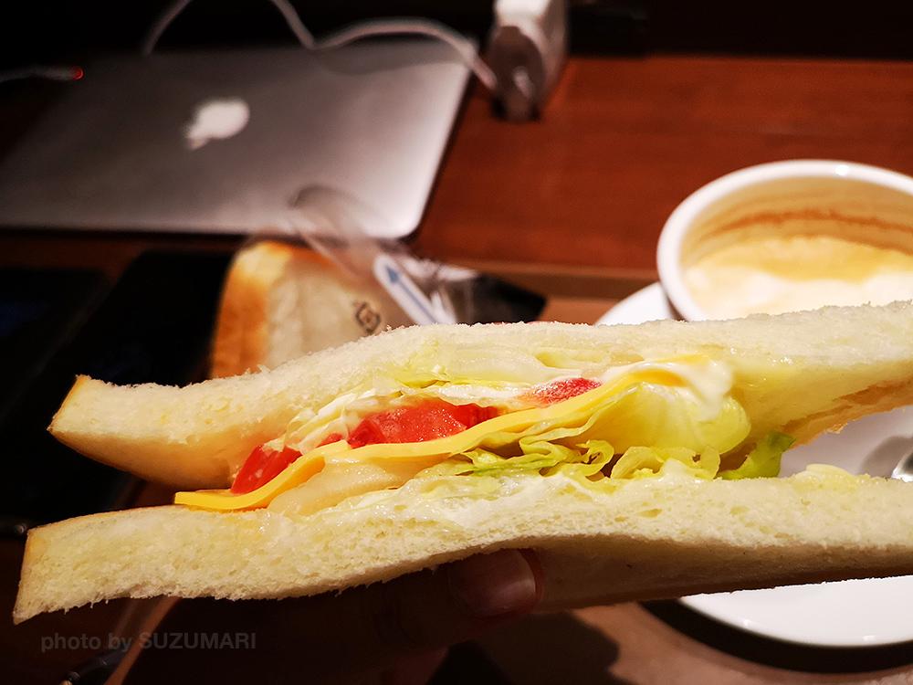 サンドイッチを食べました