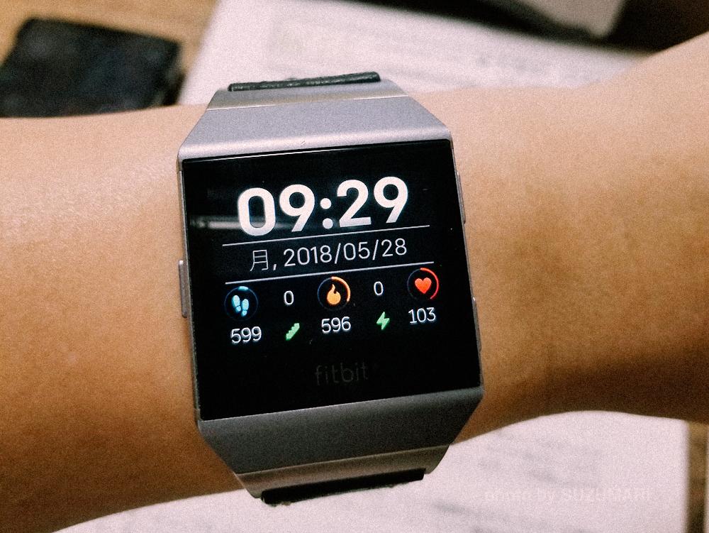Fitbit Ionicでみるアテクシの心拍数