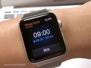 Apple Watch側のSleep Cycleの画面