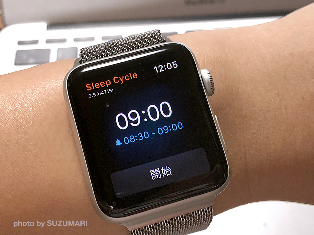 Apple Watch側のSleep Cycleの画面