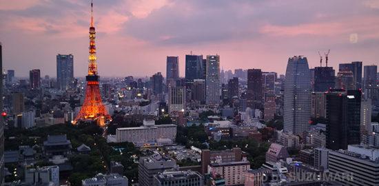 P20 Proで撮影した東京タワーと街並み