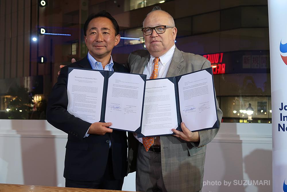 フレンチテック東京と一般社団法人Japan Innovation Network (JIN) とのパートナーシップ調印式