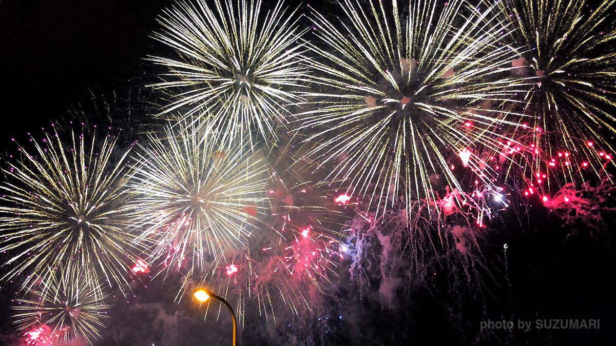 iPhone Xで撮影した花火