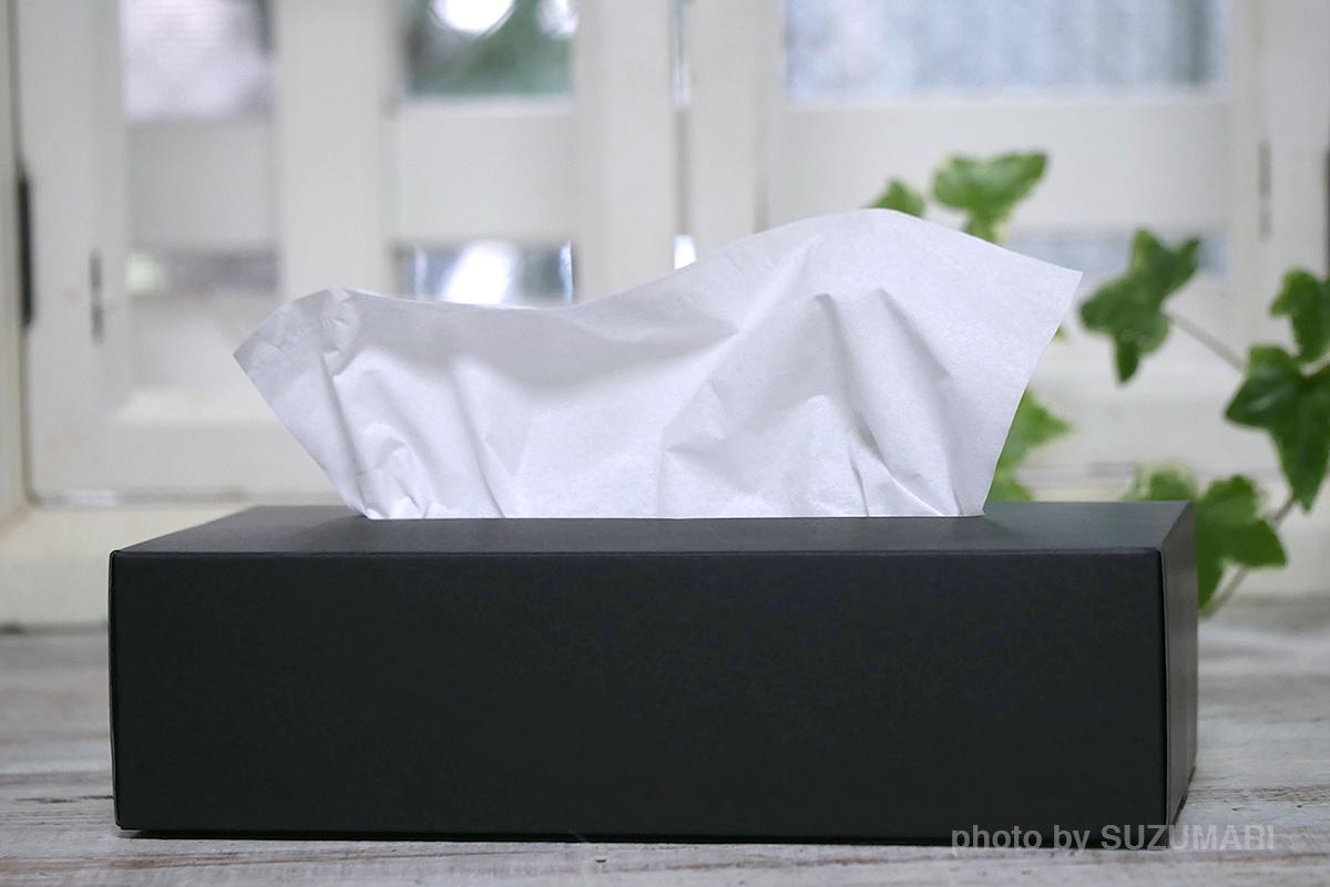 黒いティッシュボックス