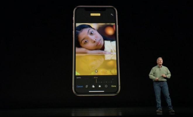 iPhone XSのポートレートモード