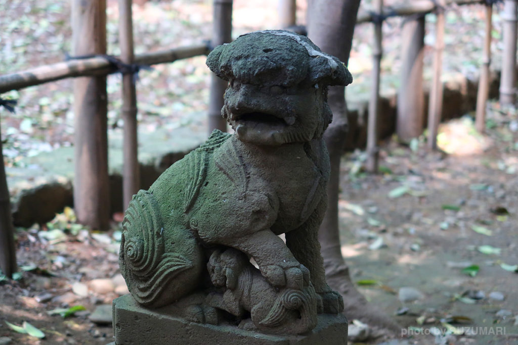 巽神社の狛犬(左)