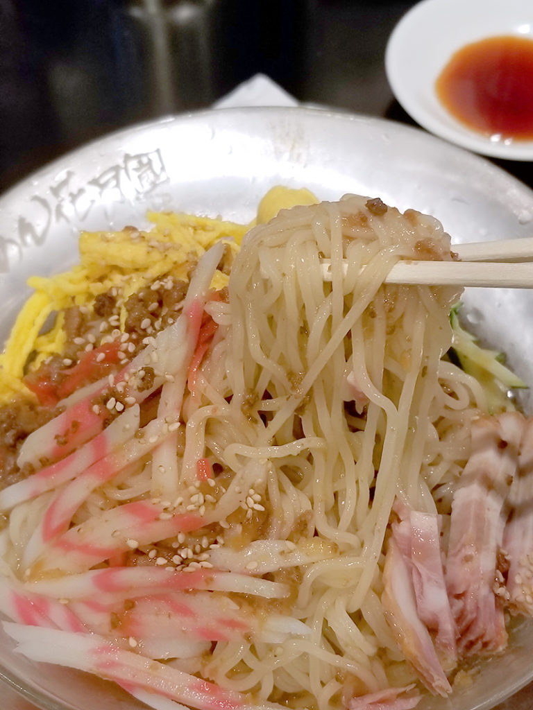 らあめん花月嵐の冷やし中華の麺