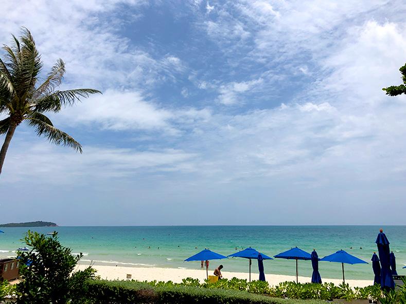 サムイ島のホテルからの眺め