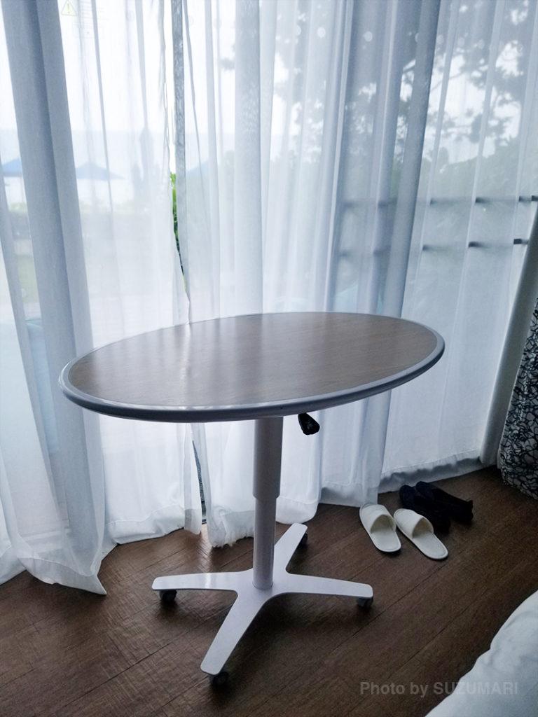 テーブルを借りました