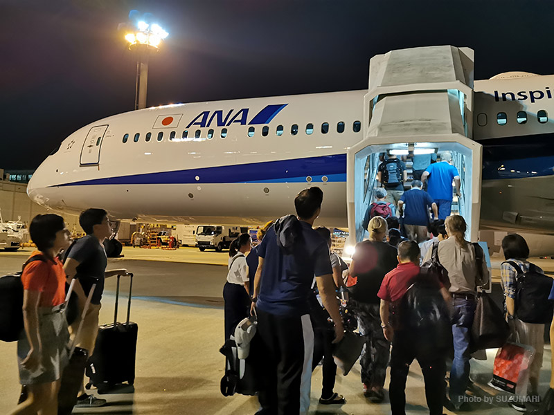 成田からバンコクへ直行便で
