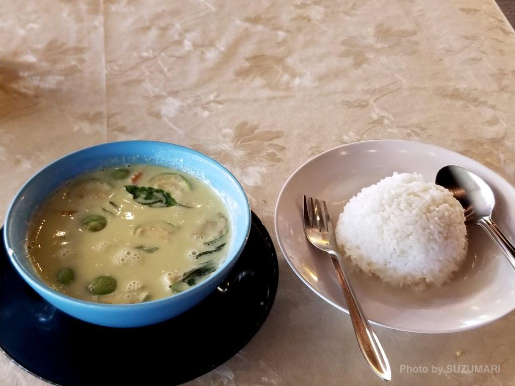 タイでグリーンカレー食べたかった!