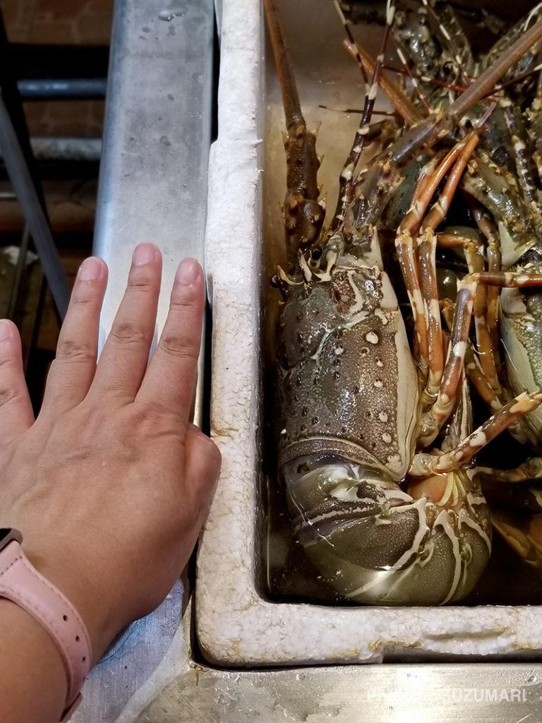 Thai food&Seafoodのでかい海老
