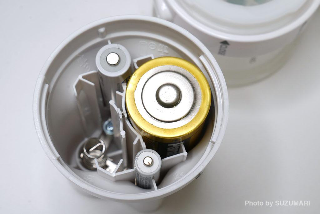 乾電池はいずれか1本でOK