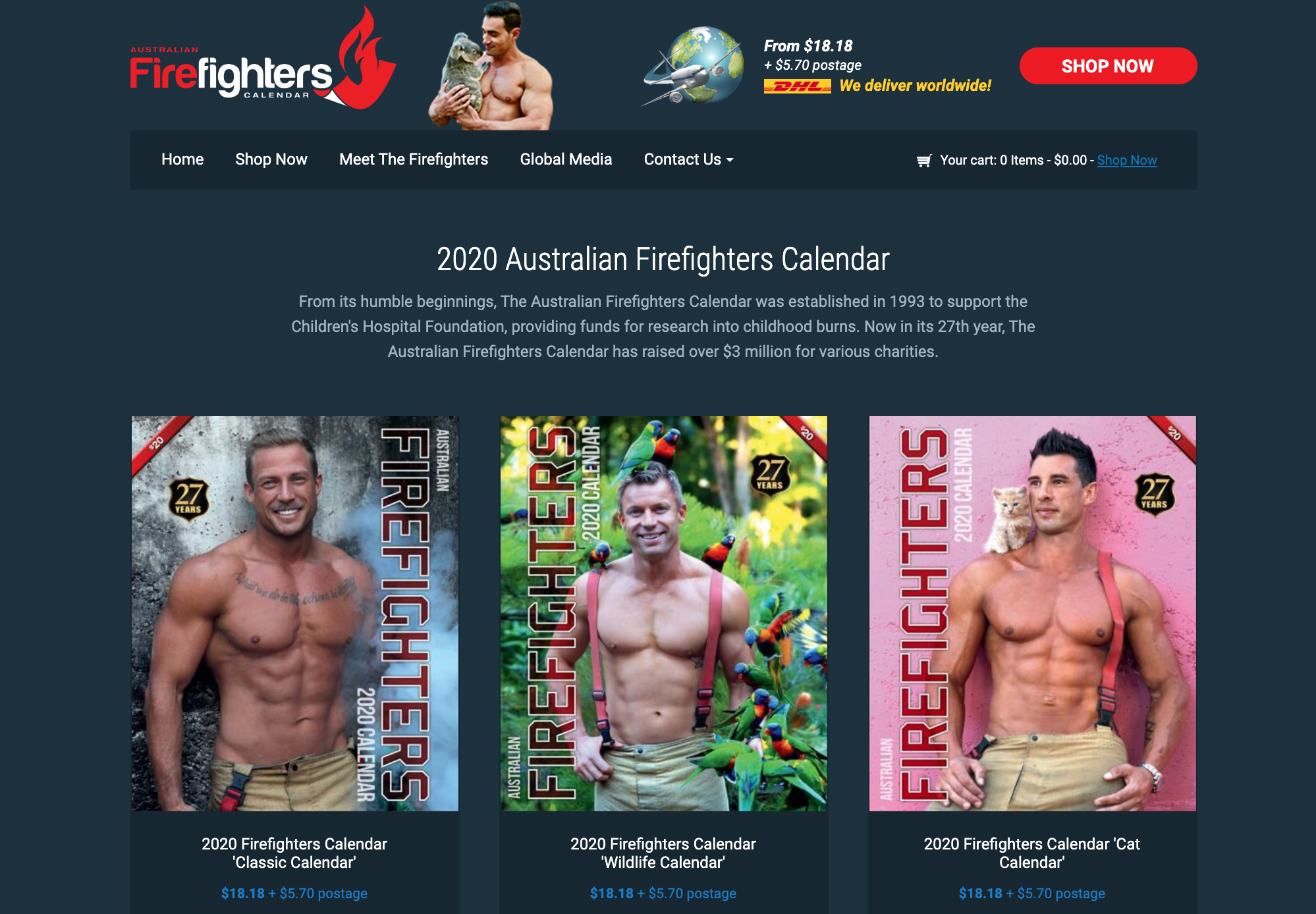 Australian Firefighters 2020 Calendars