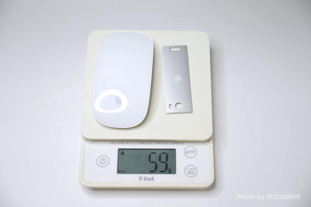 「Magic Mouse」本体の重さ