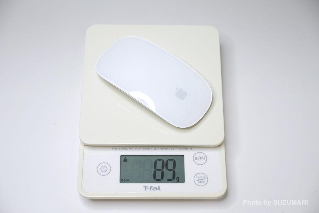 Magic MouseとPanasonicのリチウム乾電池は合計で89g