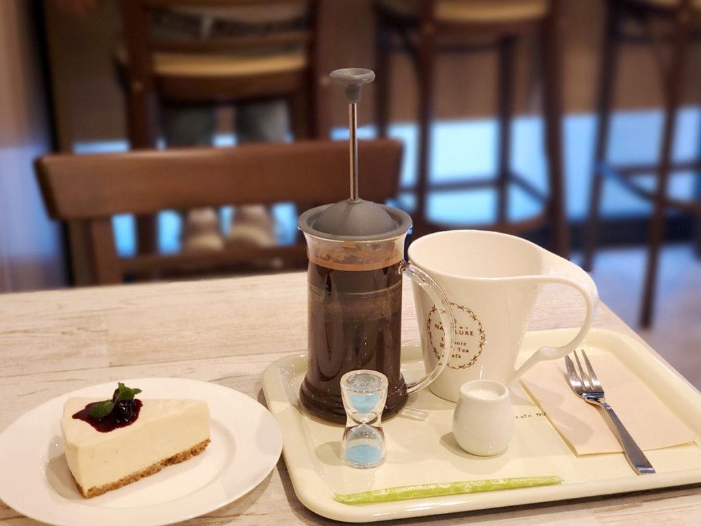カミツレのコーヒーと豆腐のチーズケーキ