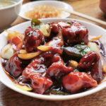 鍋家の黒酢の酢豚
