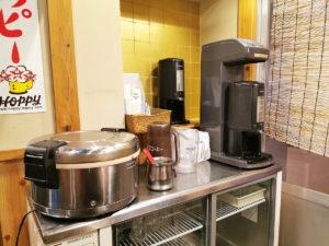 コーヒーはセルフサービスです