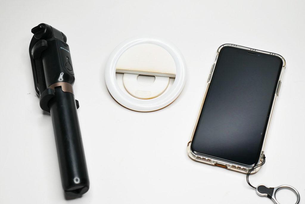 ビデオチャットにあると便利な自撮り棒とセルカライト2