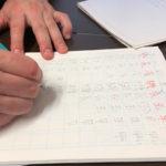 漢字の書き取り練習中